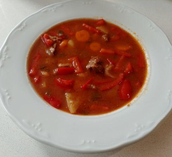 Goulash de ternera en cocción lenta (TM6)