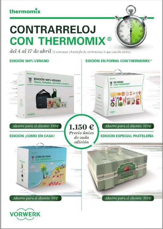 QUEDAN TAN SOLO 5 DÍAS PARA QUE TERMINEN LAS EDICIONES DE Thermomix®