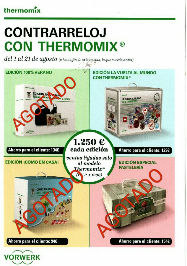 ¡¡¡A CONTRARRELOJ CON Thermomix® hasta el 28 de agosto!!! Últimas unidades