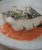 Bacalao con coulis de tomate fresco y albahaca con Thermomix®