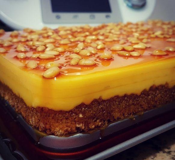 Pastel rápido de queso al caramelo en Thermomix®