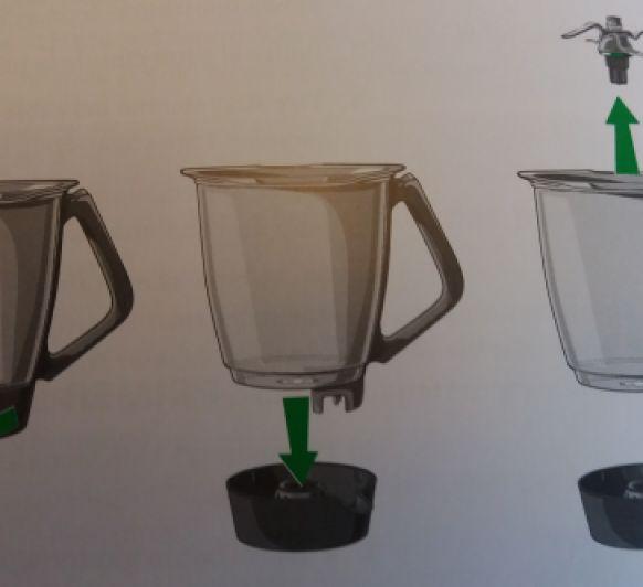 Desmontar el vaso