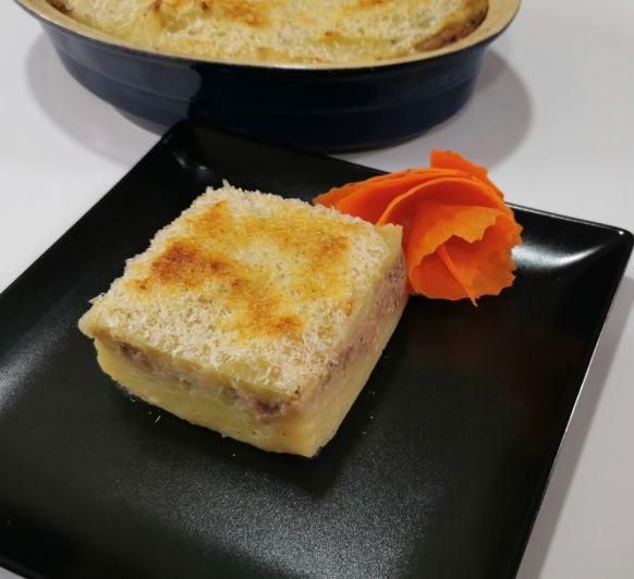 Patel de carne con patatas