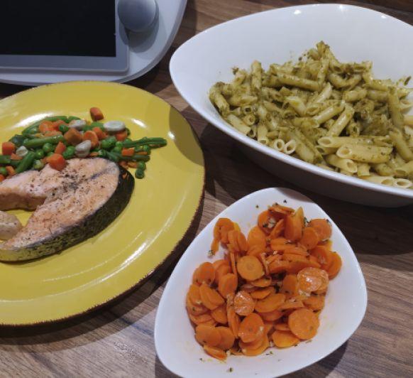 Menú Express para niños+madre a dieta