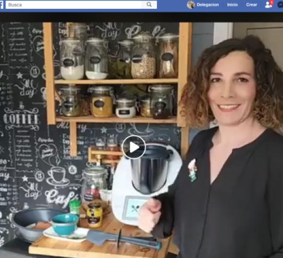 Confinamiento durante Pandemia Coronavirus: Taller de cocina Thermomix® online en Facebook