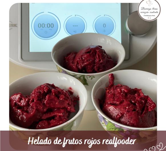 Helado de frutos rojos realfooder