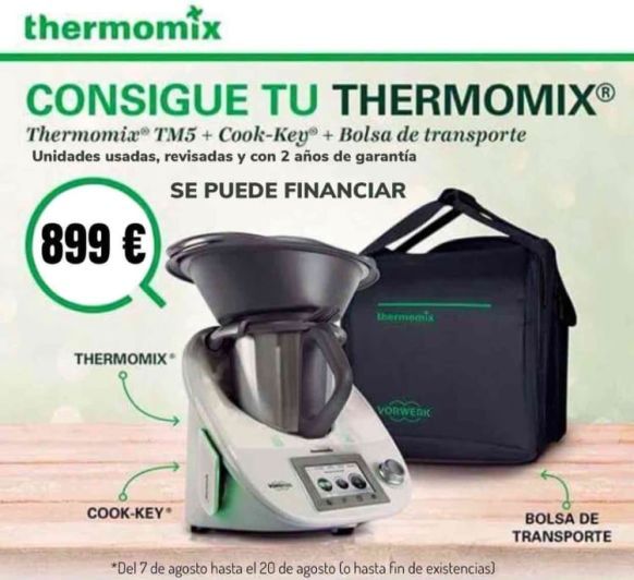 Thermomix® a un precio único. Unidades limitadas