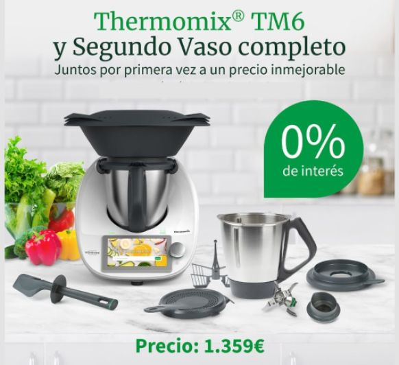 PROMOCION Thermomix® ️ DOBLE VASO Y AL 0% INTERÉS.