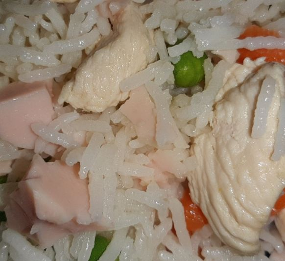 Arroz tres delicias con pollo en Thermomix®