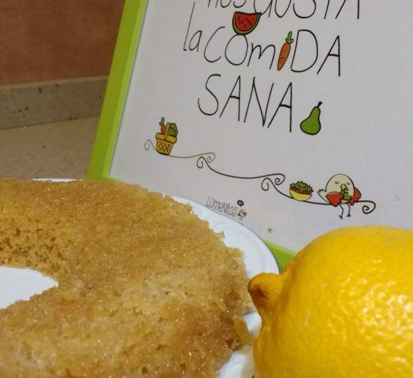 Bizcocho de limón integral al vapor... ¡con sirope de ágave!