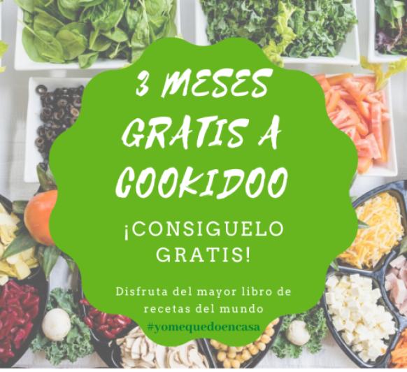 TRES MESES DE SUSCRIPCION GRATIS A COOKIDOO #yomequedoencasa
