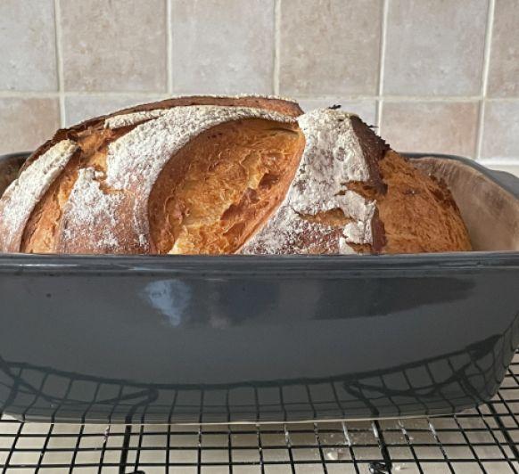 Pan casero de trigo super crujiente