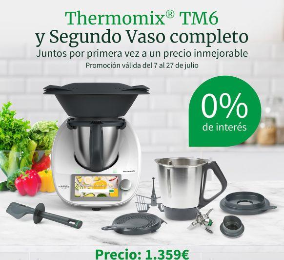 Nueva promocion Thermomix® TM6 con doble vaso y % intereses