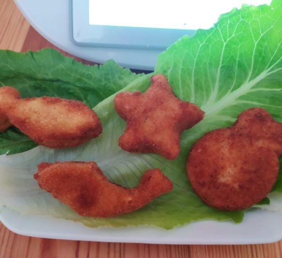 Figuritas de pescado Nuggets de merluza en Thermomix®